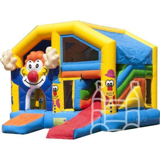 Speelkussen-Multiplay-Clown-met-dak-5x5m-huren